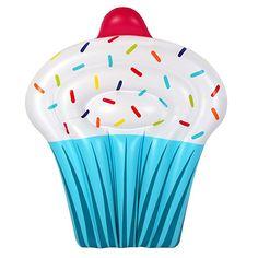 Giant Cupcake Cake Pool Float from Airtime Giant Cupcake Cakes, Cupcake In A Cup, Rose Cupcake, Cupcake Lounge, Cute Pool Floats, Summer Pool Party, Summer Fun, Summer Beach, Air Lounge