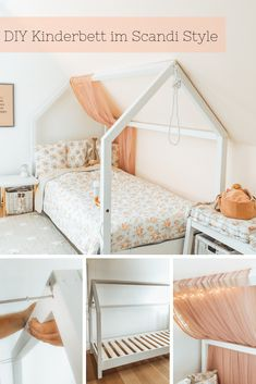 Ein DIY Kinderbett in Hausform selber bauen - mit OBI Selbstbaumöbeln Build your own DIY crib in house shape, in the trendy Scandi style. {Advertising Obi self-furniture furniture} with instructions a Diy Living Room Decor, Decoration Bedroom, Diy Home Decor, Diy Furniture Building, Diy Home Furniture, Antique Furniture, Outdoor Furniture, Wooden Furniture, Furniture Design