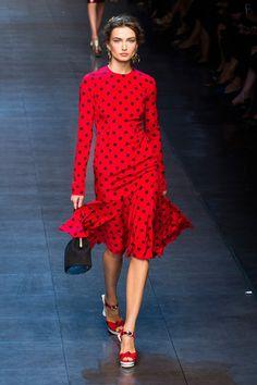 Dolce & Gabbana Spring 2014 retro beauty