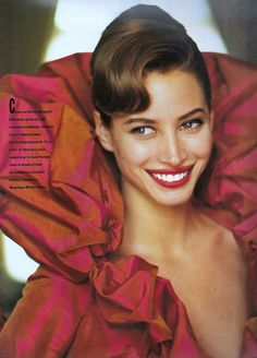 ☆ Christy Turlington   Photography by Arthur Elgort   For Vogue Magazine France   September 1991 ☆ #Christy_Turlington #Arthur_Elgort #Vogue #1991