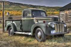 Old Truck, Montana This old Ford truck was lying near the US/Canada border.