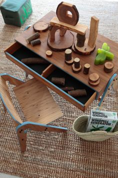 wooden-would love this for kids