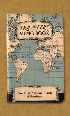 I love the looks of this Traveler's Memo Book.
