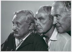 The sculptors Jacques Lipchitz, Henry Moore, Marino Marini, 1970 -by Yousuf Karsh
