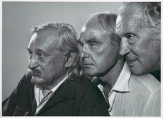 The sculptors Jacques Lipchitz, Henry Moore, Marino Marini, 1970 -by Yousuf Karsh