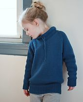 Abate is worked from the top down like the adult version - Ease. A sweater for your kids to live in- the roomy fit is perfect for lazy days around the house or keeping warm outside.