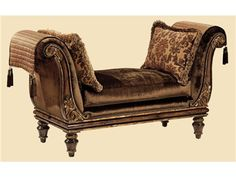 Marge Carson Living Room Lucca Bench LU48 - Boyles Furniture - Mocksville, NC