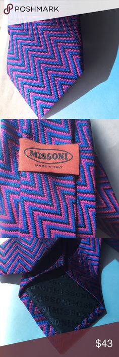 Missoni Men tie Zig zag pattern With no flaws. Perfect condition Missoni Accessories Ties