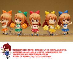 Kawaii Nendoroid More: Dress Up Cheerleaders   #rinkya #japan #fromjapan #kawaii #cute