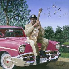 Bo Diddley & 1957 Chevy by Chris Osborne