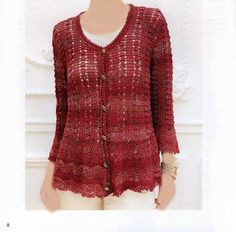 croche: Red jacket