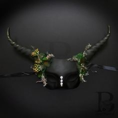 Antler Horn Whimsical Art Decor Party Mask Animal Masquerade Mask Enchanted Forest Home Decor and Masquerade Mask for Holiday Parties Animal Masquerade Masks, Masquerade Masks For Prom, Animal Masks, Sheep Mask, Horn Headband, Candy Skulls, Skull Mask, Mask Party, Animal Tattoos