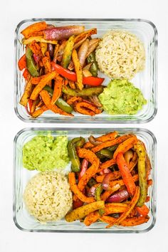 Vegan meals 829647562585156258 - Sweet Potato Fajitas Meal Prep – This is the BEST sweet potato meal prep. It's so EASY! Veggies cook on a sheet pan and the rice gets done at the same time. Meal prep for beginners. Beginner Vegetarian, Vegetarian Meal Prep, Meal Prep For Vegetarians, Vegan Meal Plans, Vegetarian Italian, Whole Food Recipes, Cooking Recipes, Healthy Recipes, Healthy Meals