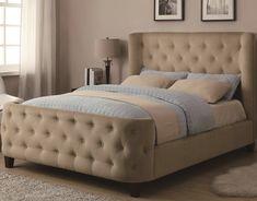 FB1514 rembourré cadre de lit mobilier de chambre touffue tête et pied