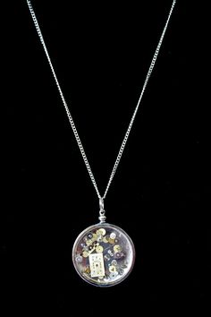 Steampunk Watch Parts In Resin Necklace by Rosemarie Hughes