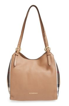 Burberry 'Small Canterbury' House Check & Leather Tote available at #Nordstrom