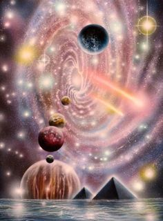 Ascension, Mother Earth and Current State of Affairs: Cosmic Rays Evolve Consciousness & Transform DNA Art Visionnaire, Infinite Universe, Art Thou, New Earth, Visionary Art, Psychedelic Art, Sci Fi Art, Spiritual Inspiration, Surreal Art