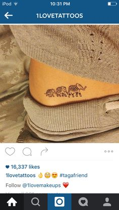 Cute elephant tattoo                                                                                                                                                                                 More