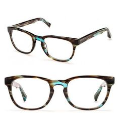 The blue highlights in these frames are unique and (four) eye-catching. | 19 Essential Statement-Making Glasses Frames