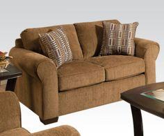 Acme Furniture - Lola Fabric Loveseat in Walnut - 51236