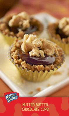 Have you heard that good things come in small packages? Well, these fun little treats are no exception. With peanut butter sandwich cookie cups and a creamy chocolate filling, these bite-size sweets are sure to be a hit.