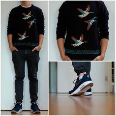 River Island Sweater, Weekday Mtwtfss/Friday, A.P.C. Nike Air Maxim 1+