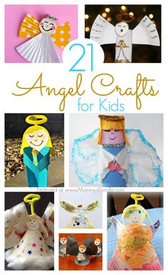 21 Angel Crafts to Get Kids Ready for Christmas: If your kids love Christmas crafts, they'll have a blast making these cute little angels to decorate the house for the holidays!