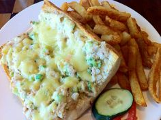 Tuna Melt Sandwich with Fries @ Nairobi, Kenya