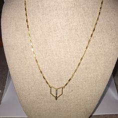 """Stella & Dot Necklace **NEW** Geometric design with ruthenium plating and hand set black diamond crystals in a brushed gold finish. 18.5"""" with 3"""" extender and lobster clasp closure. Brand new, never worn. Stella & Dot Jewelry Necklaces"""