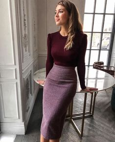 Classy Work Outfits, Office Outfits Women, Spring Work Outfits, Business Casual Outfits, Modest Fashion, Skirt Fashion, Look Fashion, Fashion Outfits, Spring Fashion