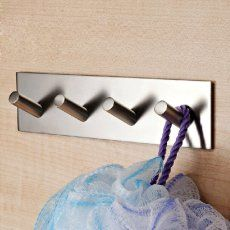 KES SUS 304 Stainless Steel Self Adhesive Hook Key Rack Rail Garage Storage Organizer Stick On Sticky Bathroom Kitchen Towel Hanger Wall Mount Contemporary Style Brushed Finish -- For more information, visit image link. (This is an affiliate link) Hook Rack, Key Rack, Key Storage, Garage Storage, Towel Hanger, Wall Hanger, Wall Hooks, Bathroom Organization, Storage Organization