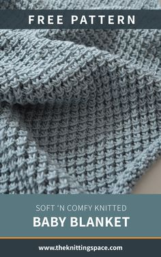 Make this simply stunning knitted baby blanket in time for the fall and winter seasons. This easy knitting project is ideal for experienced beginner knitters and makes for a thoughtful handmade baby shower gift. Baby Knitting Patterns Free Newborn, Baby Cardigan Knitting Pattern Free, Free Baby Blanket Patterns, Easy Knitting Patterns, Crochet Blanket Patterns, Scarf Patterns, Baby Patterns, Easy Knit Baby Blanket, Knitted Baby Blankets