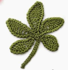 Crochet Leaf - Chart ❥ 4U hilariafina  http://www.pinterest.com/hilariafina/