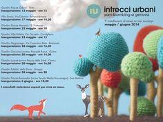 Intrecci Urbani. Yarn bombing a Genova. Appuntamenti maggio-giugno 2014
