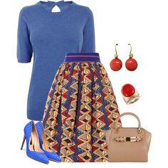 """Skirt appeal"" by borntoread on Polyvore ~African fashion, Ankara, kitenge, African women dresses, African prints, African men's fashion, Nigerian style, Ghanaian fashion ~DKK"
