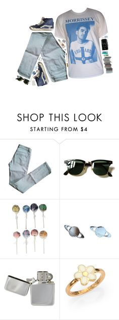 """""""you are not me"""" by xambergurlx ❤ liked on Polyvore featuring Maje, Ray-Ban, Marc by Marc Jacobs and vintage"""