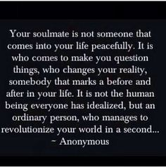 Soulmate...not your typical definition