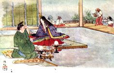 The Japanese Fairy Book....beautiful illustrations. Read on line.