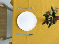 Linen tablecloth (yellow) 925