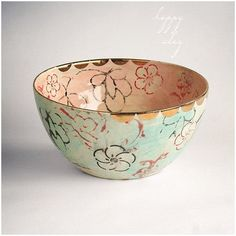 Purchase Lotus Garden Ceramic Serving Bowl Available in 14 days from happyclay on OpenSky. Ceramic Bowls, Ceramic Pottery, Pottery Art, Make Your Own Pottery, Lotus Garden, Cerámica Ideas, Glazing Techniques, Colourful Cushions, Sgraffito