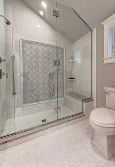 heavy frameless shower puts niche on shower head wall. Black Bedroom Furniture Sets. Home Design Ideas
