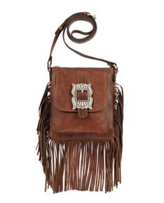 Eagle Feather Soft Crossbody Leather Fringe Purse by American West