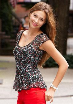Floral Lace Peplum  - Reminds me on the 90's floral dresses my mom used to wear
