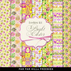 FREE Freebies Kit of Paper - Bright Easter BY Far Far Hill