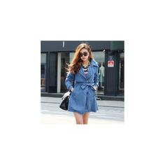 Line Trench Coat - High Quality Korean Women Fashion Clothing & Beauty... via Polyvore