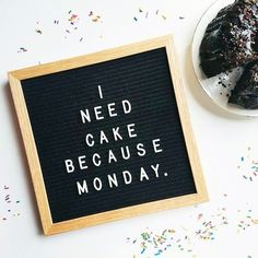 Everybody's hating on you, Monday, but if you're my weekly excuse to eat cake, we're cool. : @anneie.bee