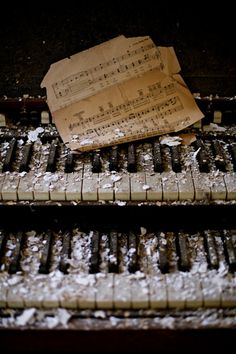 In the old parlour of the house.. there was a beautiful piano/organ that sat in ruin. It looks as if it had seen much chaos, though its haunting melody was a song I knew from my past.