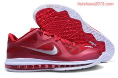 detailed look 93db1 d8e26 Lebron 9 Low Lebron James IX Team Red Burgundy Red Wolf Grey 469765 new  sample of Lebron 9 Low
