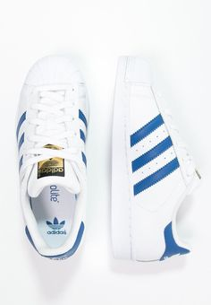 buy online ad73d dc44c adidas Originals SUPERSTAR FOUNDATION - Sneakers laag - whiteblue -  Zalando.be Adidas