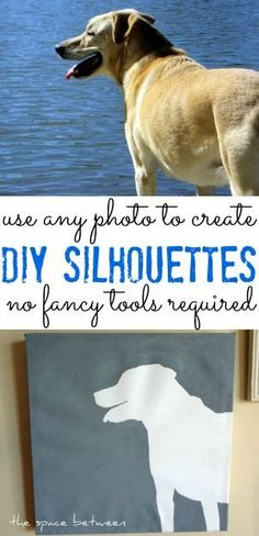 create your own silhouettes using only a photo and your home printer!  I LOVE this!!
